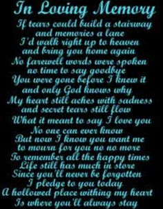 In loving memory of my Grandma Jean, who passed away three years ago ...