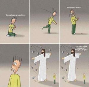 Human: God, please protect me.
