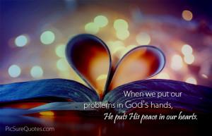 Gods Healing Hands Quotes Problems in gods hands