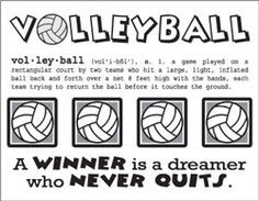 Inspirational Volleyball Quotes...