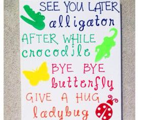See You Later Alligator Poem Printable