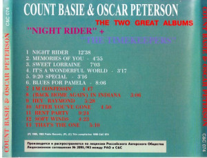 Count Basie & Oscar Peterson - The Timekeepers & Night Rider (1998)