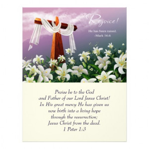 Jesus is Risen! Easter Church Bulletins Letterhead Template