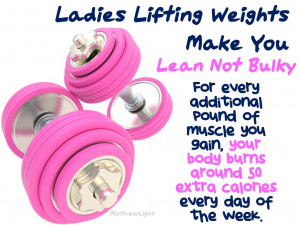 Women Lifting Weights Quotes Lifting weights make you lean