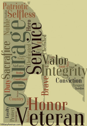 Veterans - Courage, Service, Valor, Integrity, Sacrifice, Patriotic ...