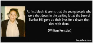 it seems that the young people who were shot down in the parking lot ...