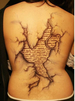 Intriguing And Eye-popping Tattoo With Strong Word Expressions