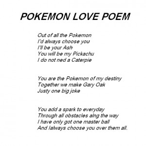 Pokemon Poems About Love