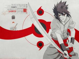 quotes uchiha sasuke weapons naruto shippuden sharingan anime anime ...