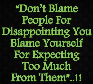 Blame Game...