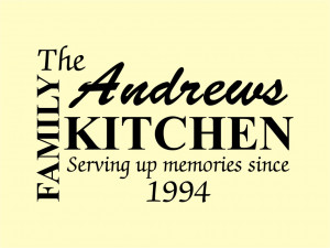 Personalised Family Kitchen Quote