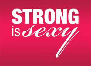 Strong is Sexy Motivational Fitness Decal Quote for Gym and Workout ...