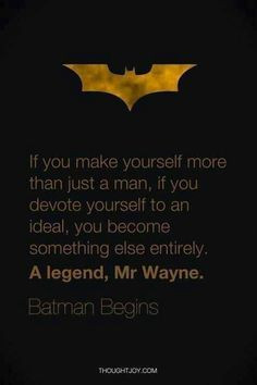 Batman #superhero #quote