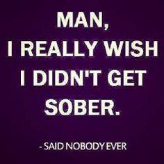 ... sober
