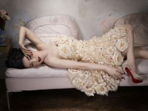 Model: Dita Von Teese | Photograper: David OldhamDavid Oldham, Glamour ...