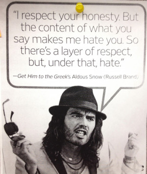 russell brand #aldous snow #quotes #get him to the greek