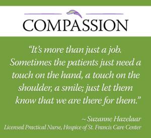 Suzanne care center nurse quote