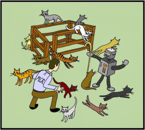 and when i say cat herding i am not talking about herding cats which ...