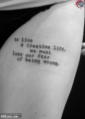 Fearless Quote Tattoo Fearless quote tattoo