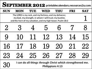 These are the christian calendar september with bible verses Pictures