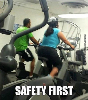 funny picture safety first spinning helmet