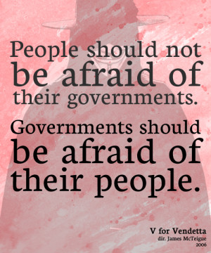 For Vendetta Quotes Government