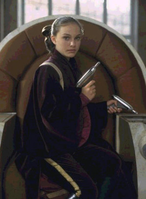 queen amidala disguised as padme naberrie is able to aware more things ...