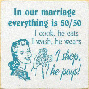 Marriages are 50-50