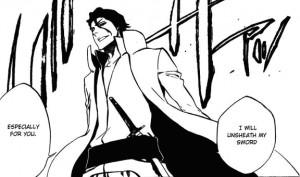 Aizen's sword in its sheath.