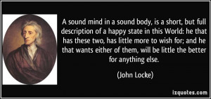 sound mind in a sound body, is a short, but full description of a ...