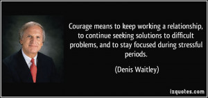 working a relationship, to continue seeking solutions to difficult ...