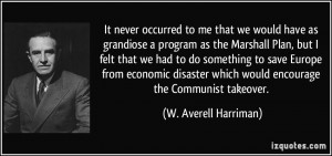 Marshall Plan quote #1
