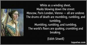 sheet, Masks blowing down the street: Moscow, Paris London, Vienna ...