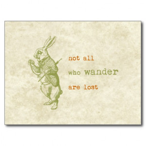 White Rabbit, Alice in Wonderland Postcards