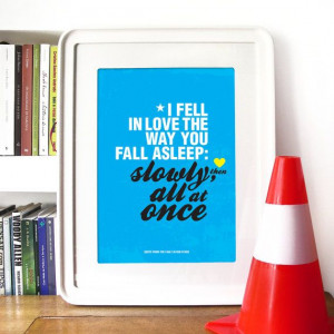 The Fault in Our Stars quote inspired by John Green's novel - A3 ...
