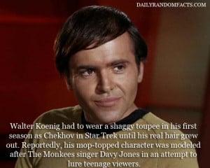 Pavel Chekov star trek fact