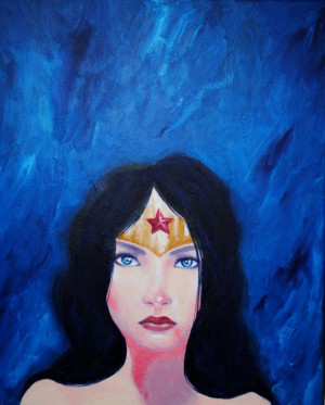 Wonder Woman original acrylic 8x10 giclee print by SilverLotus, $20.00