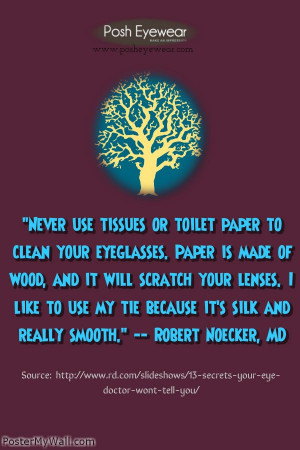 An eye care quote from Robert Noeker.