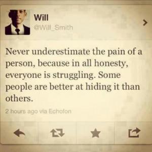 Pain, struggle, honesty.