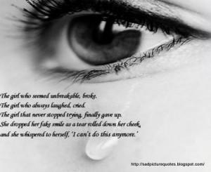 Sad Quotes with Sad Pictures