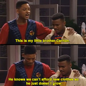 This is my little brother Carlton