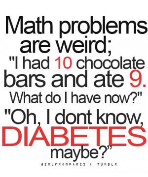 chocolate, diabetes, funny, lol, math, problems, text