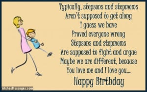 ... stated that stepdads and stepsons can't get along. Happy birthday