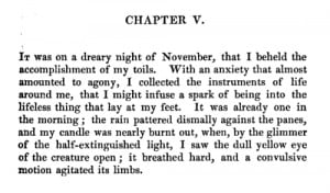 Mary Shelley's preface to Frankenstein (1831)