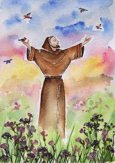 St Francis Of Assisi Painting - Regina Ammerman
