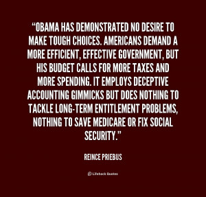 Obama has demonstrated no desire to make tough choices. Americans ...