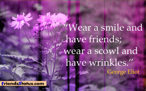 smile friends quotes image