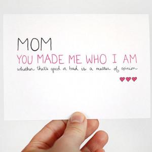 Mothers Birthday Card. Birthday Card for Mom | via JulieAnnArt