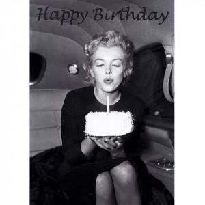 Happy Birthday Marilyn Monroe Butlers card happy birthday