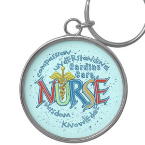 Cardiac Care Nurse Motto Keychain